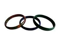 Lot de 3 Bracelets en cuir coloré femme