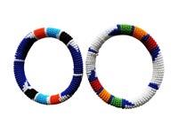 Lot de 2 Bracelets perlés Massaï Kenya
