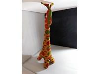 Doudou girafe en wax