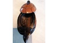 Boîte à bijoux tortue en ébène noir & brun