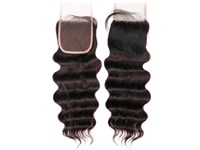 Ali Bundles Unprocessed 100% Virgin Human Hair Weave 4X4 Silk Lace Free Part Natural top Closure 7A